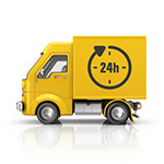 We deliver - truck logo