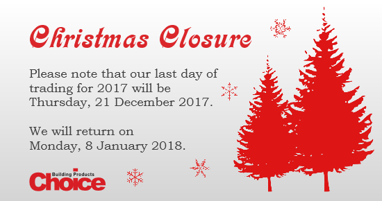 Christmas Closure Blog 2017