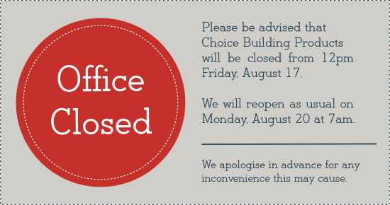 Office Closed (Aug18) Blog